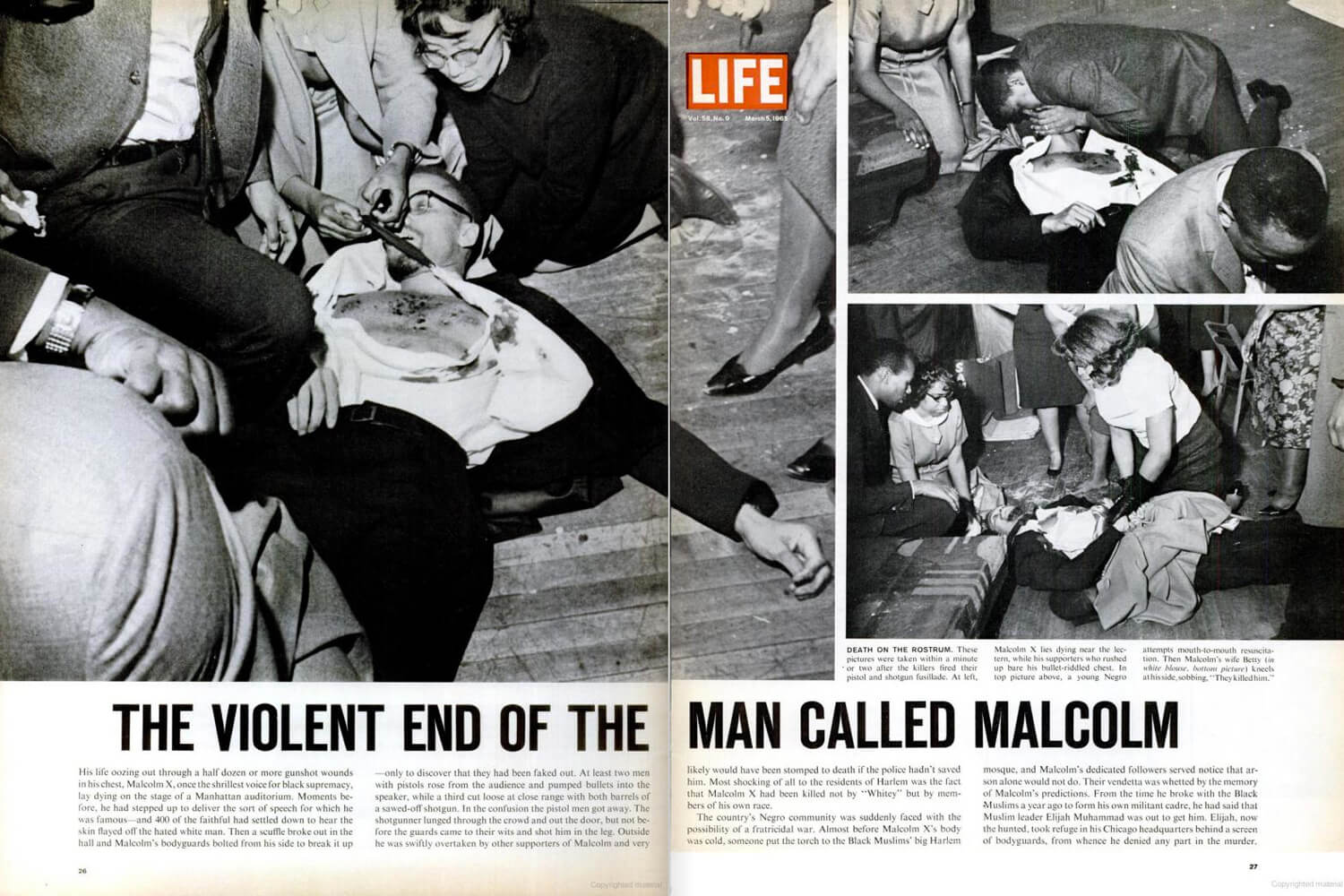 LIFE magazine feature Malcolm X assassination