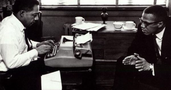 Malcolm X and Alex Haley