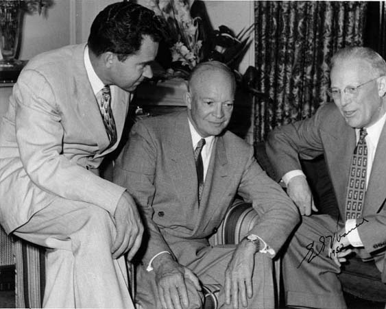 Eisenhower and Earl Warren
