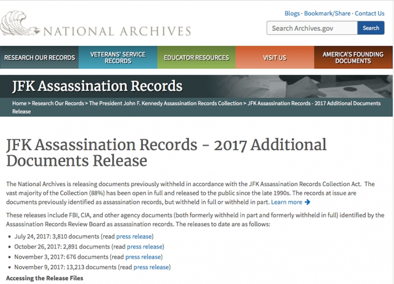 The Newly Declassified JFK Assassination Files